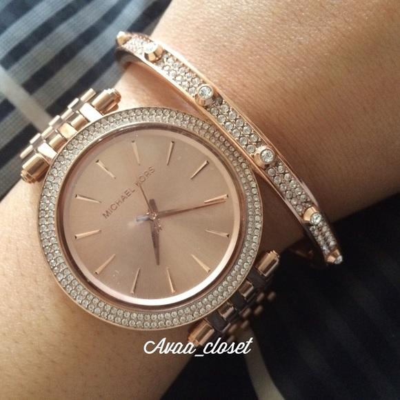 Michael Kors Rose Gold Darci Glitz Watch. M 554d49da2cbedc1f48004767. Other  Accessories ... fbf30fa3c26f8