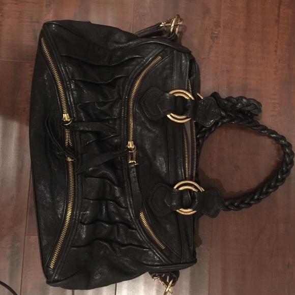 b0bf7f83b415 Black leather Treesje purse. M 554451ead570417f52007042