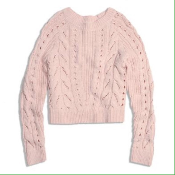 73% off Lucky Brand Sweaters - Lucky Brand blush pink chunky knit ...