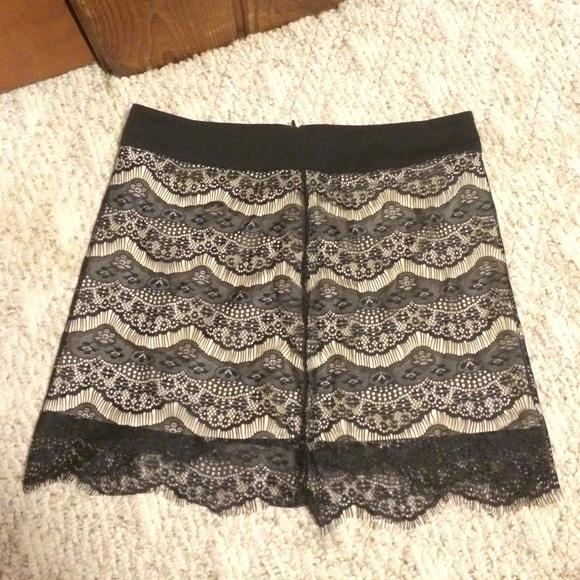 03cb657da3a Tan and Black Lace Skirt