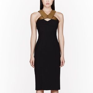 Burberry Dresses & Skirts - SOLD Burberry Bodycon Fitted Gold Metal Plate Dres
