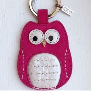 Authentic Coach Keychain Fob NWT Pink Owl~HTF