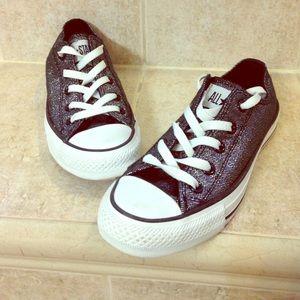 Converse Shoes - Metallic Herringbone Converse