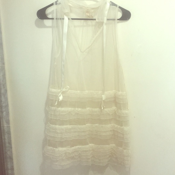9dc43cd3cc Free People Dresses | Sheer Ruffle Cover Up | Poshmark