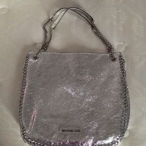 Metallic Silver Michael Kors Bag!