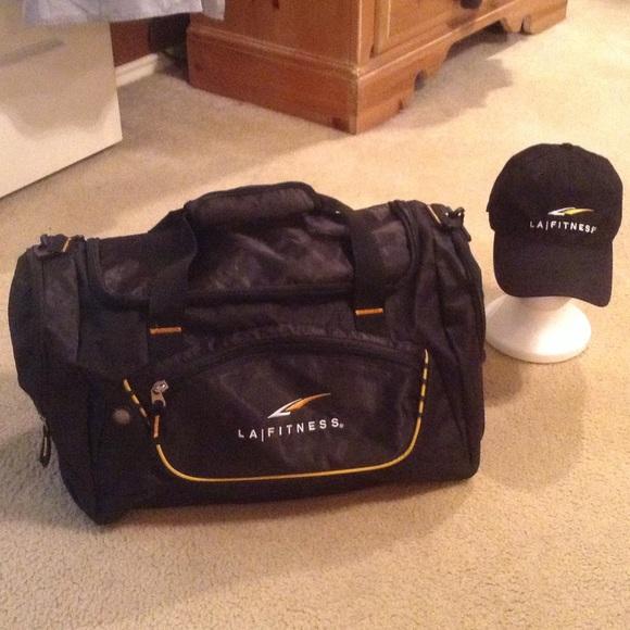 2942781a1598 LA Fitness Handbags - Gym Bag and cap