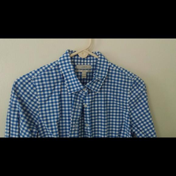 J. Crew Tops - J.Crew button-down gingham shirt