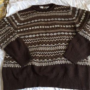 VINTAGE brown sweater