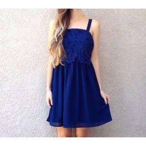 | new | navy lace dress