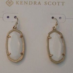 Kendra Scott White Elle Mother of Pearl Earrings