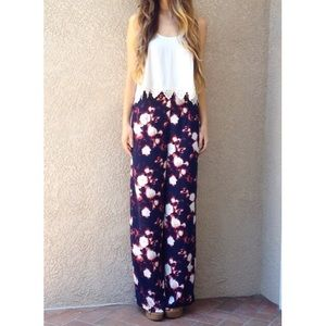 | new | navy print pants