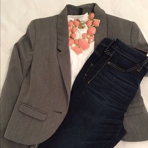 H&M Jackets & Blazers - Gray H&M Short Jacket Size 4