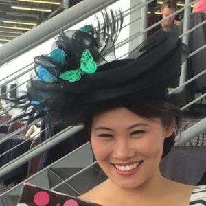 Splendeur's Boutique Pick Accessories - ✨Black Wool Lovers Shape Derby Hat✨