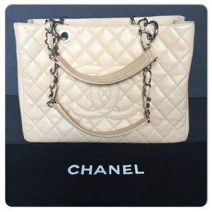 CHANEL GST GRAND SHOPPER TOTE BEIGE