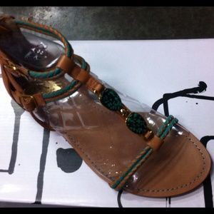 Dolce Vita jade and leather sandal 8.5 new in box