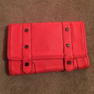 BCBGeneration coral large wallet/clutch