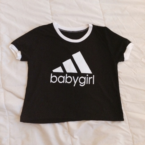 Adidas Babygirl Tee Crop Poshmark Top Ringer Tops ROZqnAZ