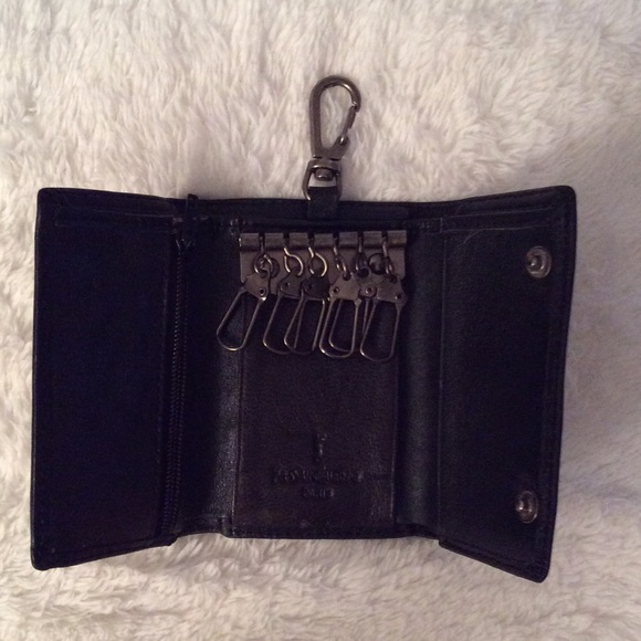 ysl keychain wallet