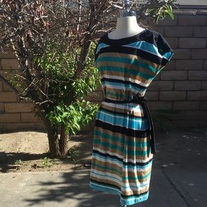Vibrant Striped Dress