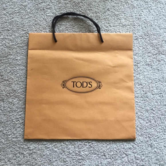 a4109d7b413 Tod's Accessories | Tods Paper Bag | Poshmark