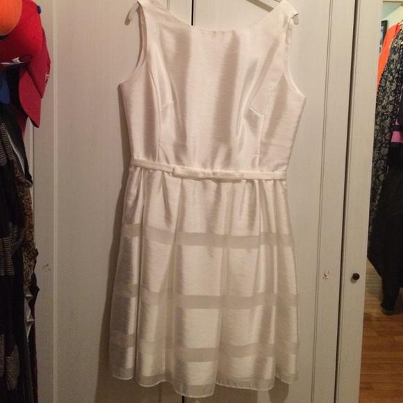 Taylor Dresses - HOST PICK! 😍 White Striped Fit & Flare Dress