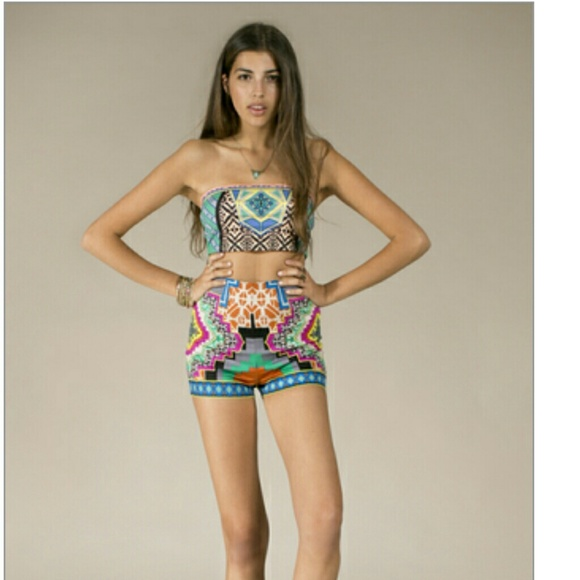 71% off Flying Tomato Other - High waist tribal print shorts from ...