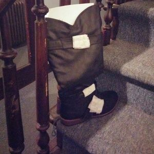 "Knee high motorcycle boots ""maddox"" never worn"