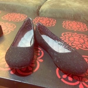 Brand New Jellypop Black Lace Flats 6