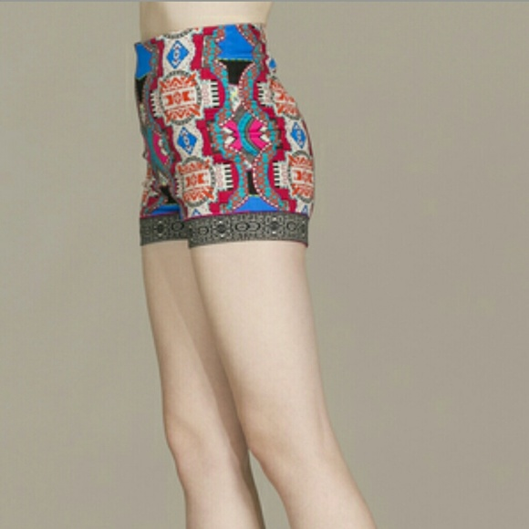 76% off Flying Tomato Other - High waist tribal print shorts from ...