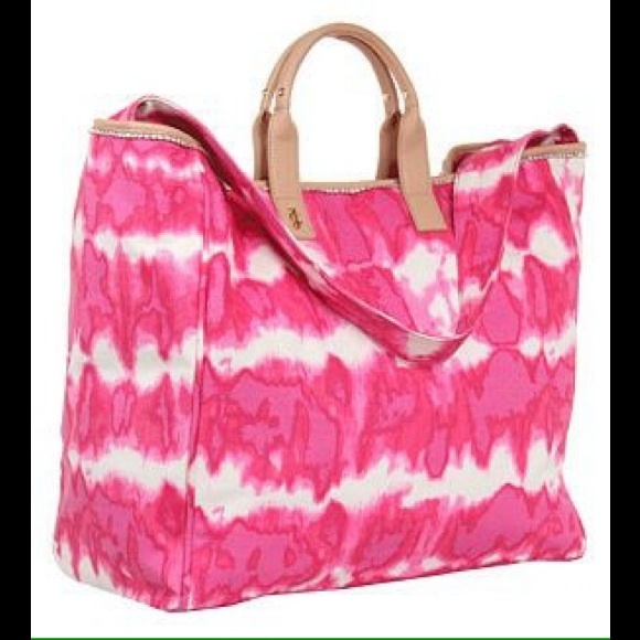 75% off Juicy Couture Handbags - JUICY COUTURE Pink Canvas Tie-Dye ...