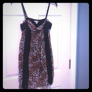 Silky Leopard Print Dress