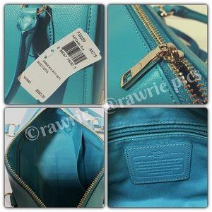 ba910f538cd Coach Bags   Clearance New Turquoise Blue Leather Satchel   Poshmark