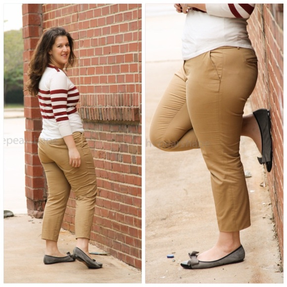 78% off J. Crew Pants - j. crew // cafe capris • khaki from ...