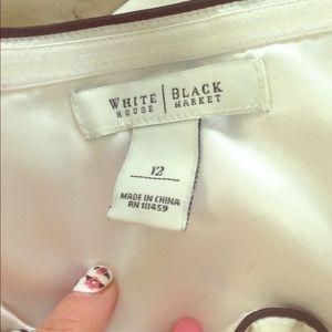 Black and white short dress.