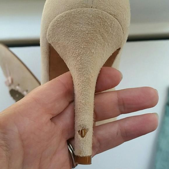 Banana Republic Shoes - 💗HP💗 BR Pink Suede Heels