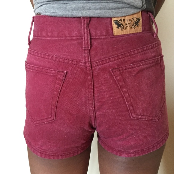 40% off American Apparel Denim - Burgundy AA inspired high waisted ...