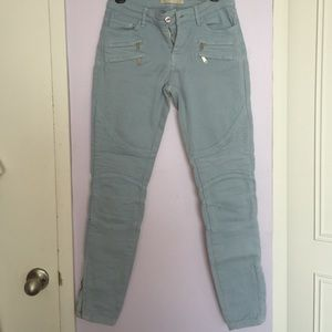 Powder blue Zara skinny jeans