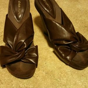 Exhilaration  Shoes - Brown leather sandals
