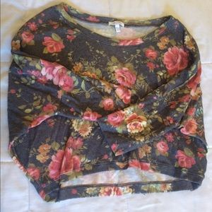 Delias Sweaters - Floral cropped sweater