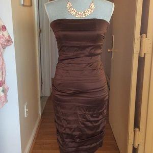 Alice + Olivia Dresses & Skirts - Alice + Olivia brown silk dress