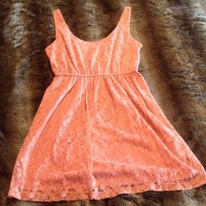 Forever 21 Peach Lace Sundress
