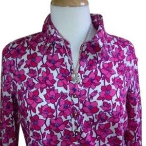 Lilly Pulitzer Tops - Lilly Pulitzer Floral Popover Tunic Top