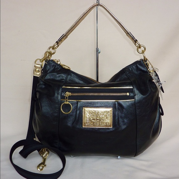 e0897c90bb8 Coach Bags | Jazzy Poppy Patent Black Leather Gold Purse | Poshmark