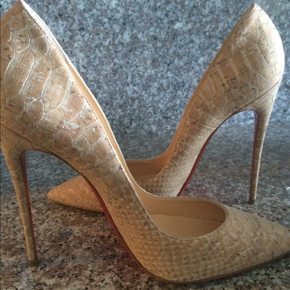 e1665711e48b 100% off Christian Louboutin Shoes - Reserved. christian louboutin so kate  nude cork 38 from Rachel s closet on Poshmark .