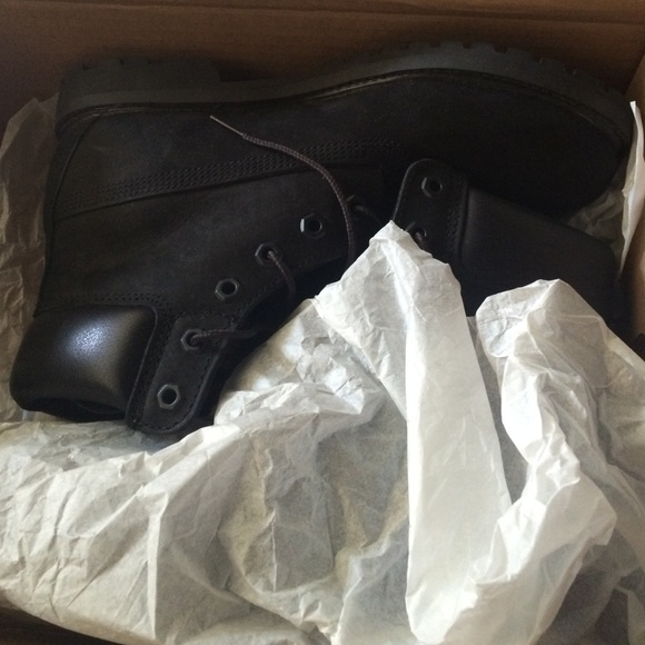 Svarte Timberland Støvler Størrelse 8,5