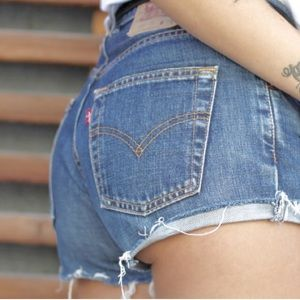 Vintage button fly Levi's shorts