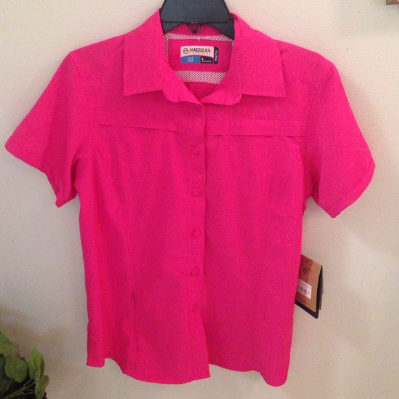 Nwt magellan fishing shirt pink poshmark for Magellan women s fishing shirts