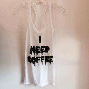I Need Coffee tank