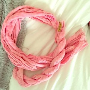 Peter Jensen Pink Twisted Scarf