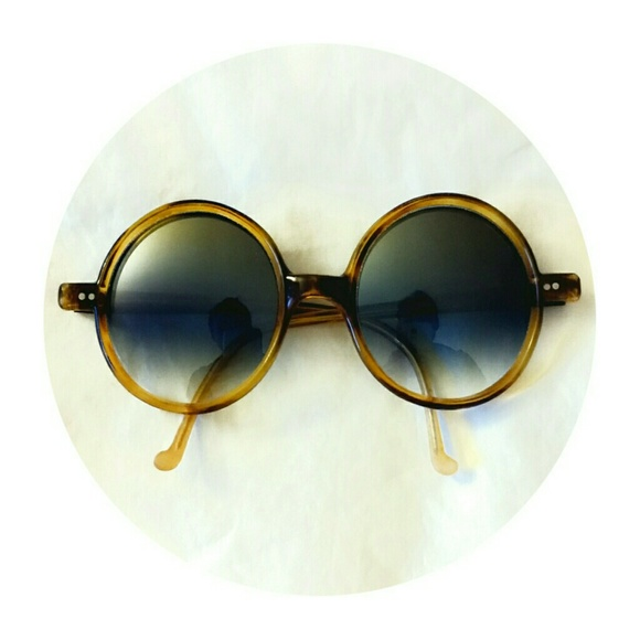 487120eda1121 Vintage Italian yellow lucite bugeye sunglasses. M 5546be6013302a4f5200bce4